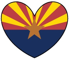 Arizona Flag Heart