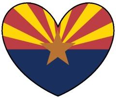 Arizona Flag Heart