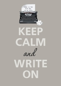 Keep calm write