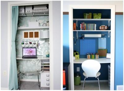 Closet desk - Remodelaholic