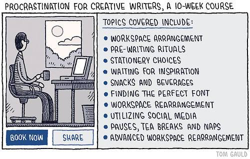 Procrastination writers