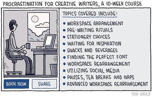 Procrastination writers
